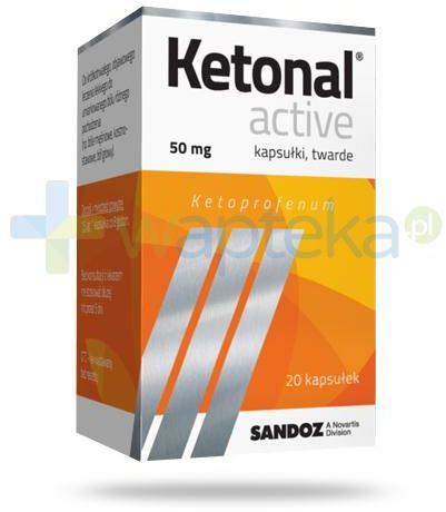 Ketonal Active 50mg 20 kapsułek