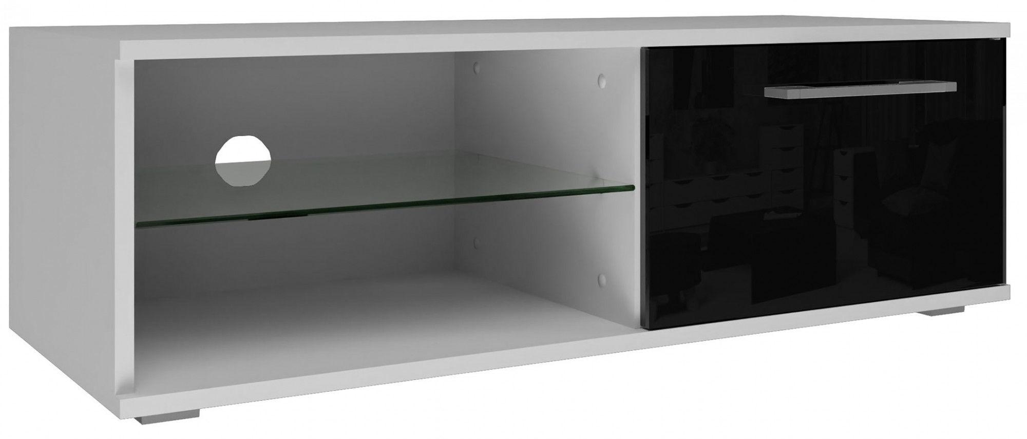 Biało-czarna nowoczesna szafka RTV - Prisa
