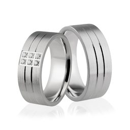 Obrączki srebrne z kamieniami - wzór Ag-279