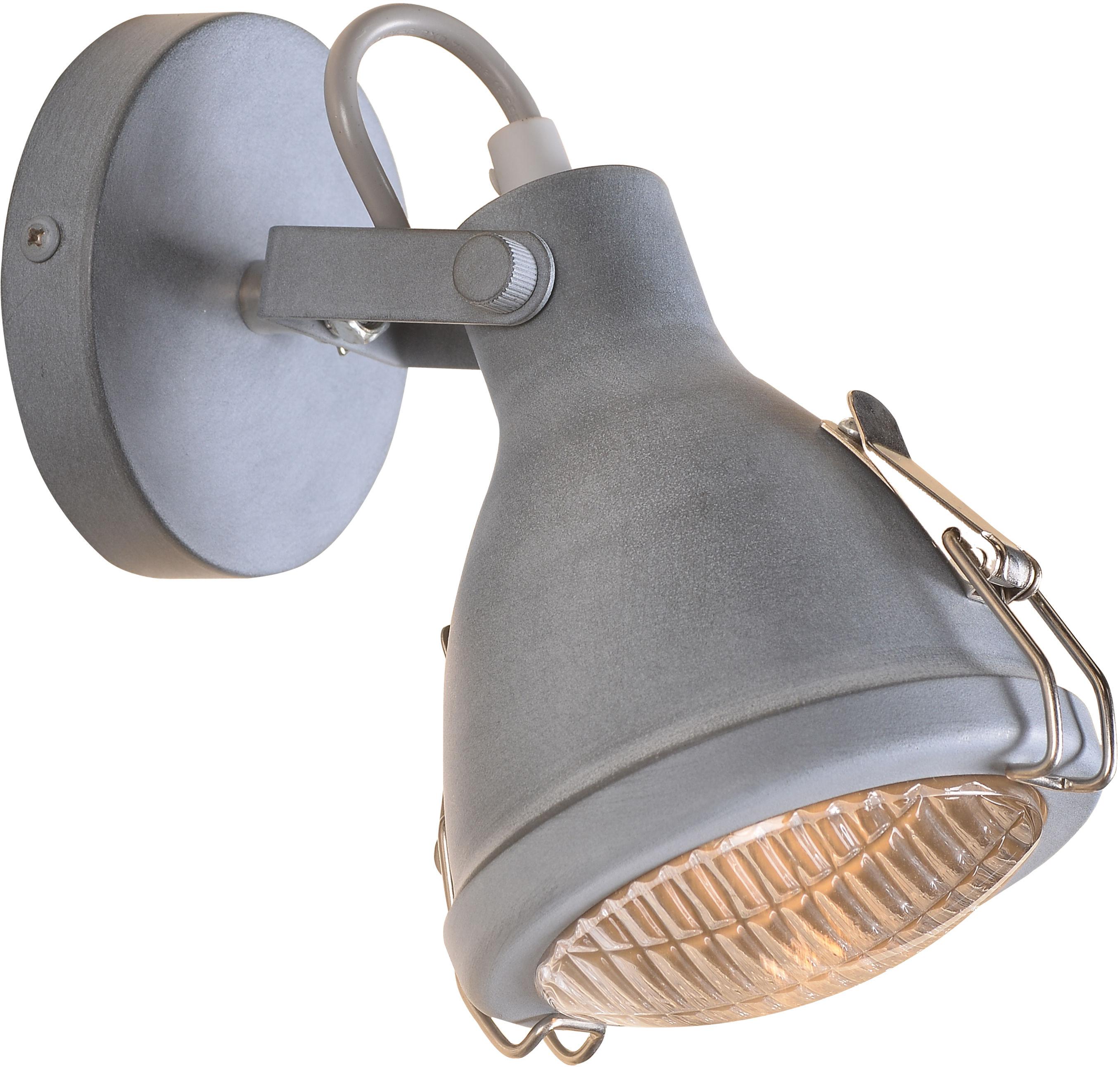 Candellux CRODO 91-71101 kinkiet lampa ścienna szara regulacja klosza 1X40W E14 11cm