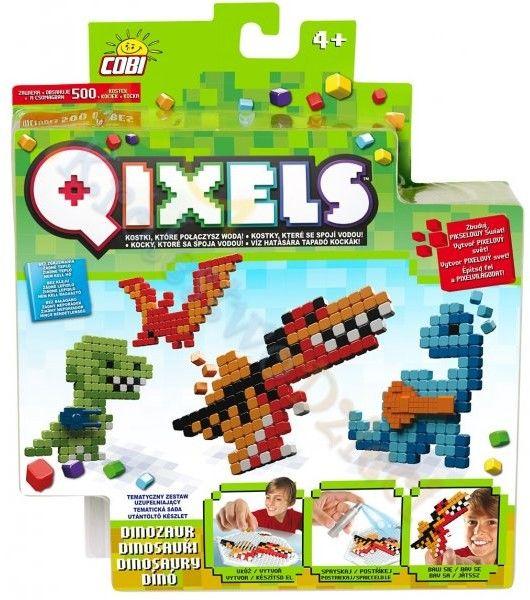 Qixels - Zestaw uzupełniający Dinozaury 500 pikseli 87013