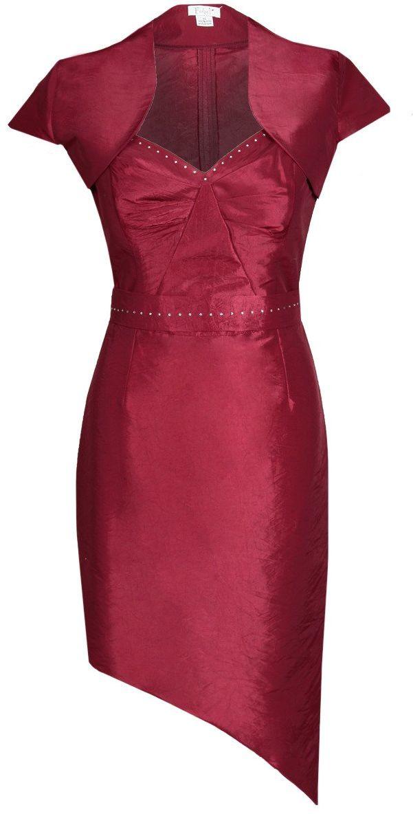 Sukienka FSU155 RUBINOWY