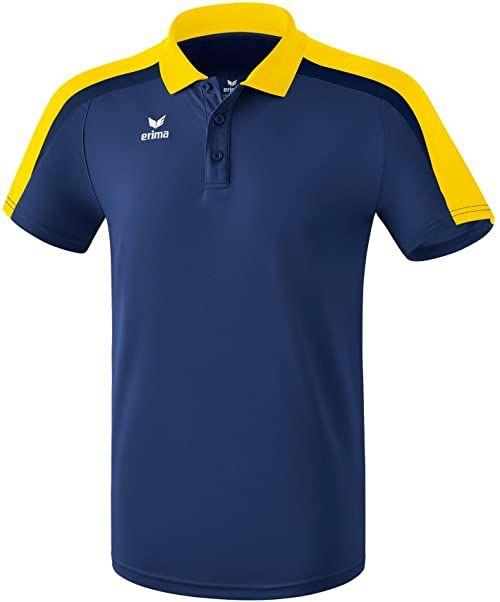 Erima 164 dziecięca koszulka polo, kolor: granatowy/żółty/ciemnogranatowy