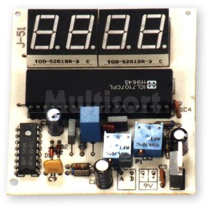 Termometr z wyświetlaczem LED (do montażu)