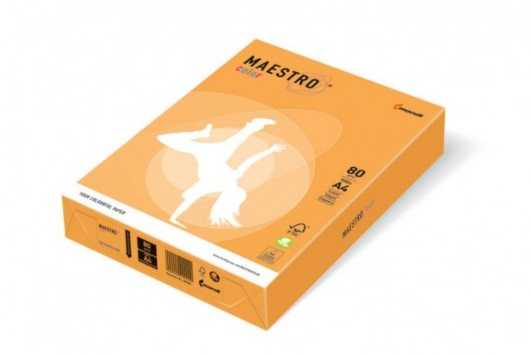 Papier Mondi MAESTRO Color Neon - NEOOR45 - neon pomarańczowy (A4/80 g/m2) - 5 ryz (NEOOR45)