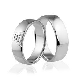 Obrączki srebrne z kamieniami - wzór Ag-280