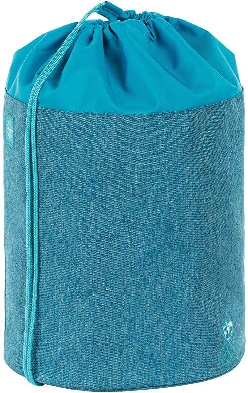 LÄSSIG Dziecięca torba sportowa dla dziewczynki, chłopca, szkoła, przedszkole, worek marynarski / torba sportowa, About Friends niebieska