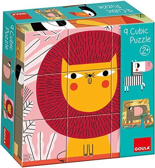 Goula 53469 9 kwadratowych puzzli dla dzieci od 2 lat, kolorowe