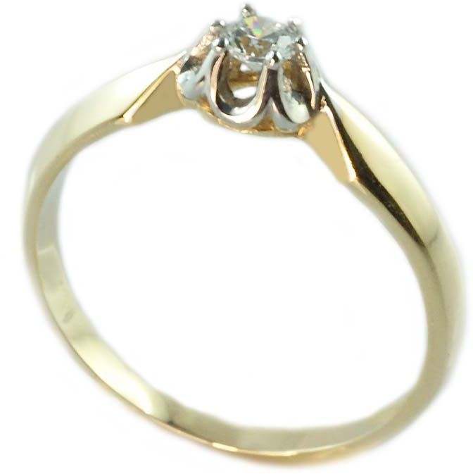 Pierścionek zaręczynowy, złoto pr.585