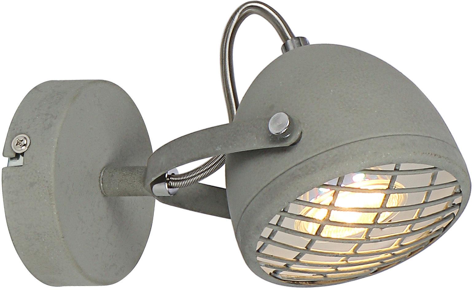 Candellux PENT 91-67999 kinkiet lampa ścienna betonowy szary regulacja klosza 1X50W GU10 10cm