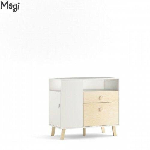 Komoda 2-drzwiowa z szufladą Magi