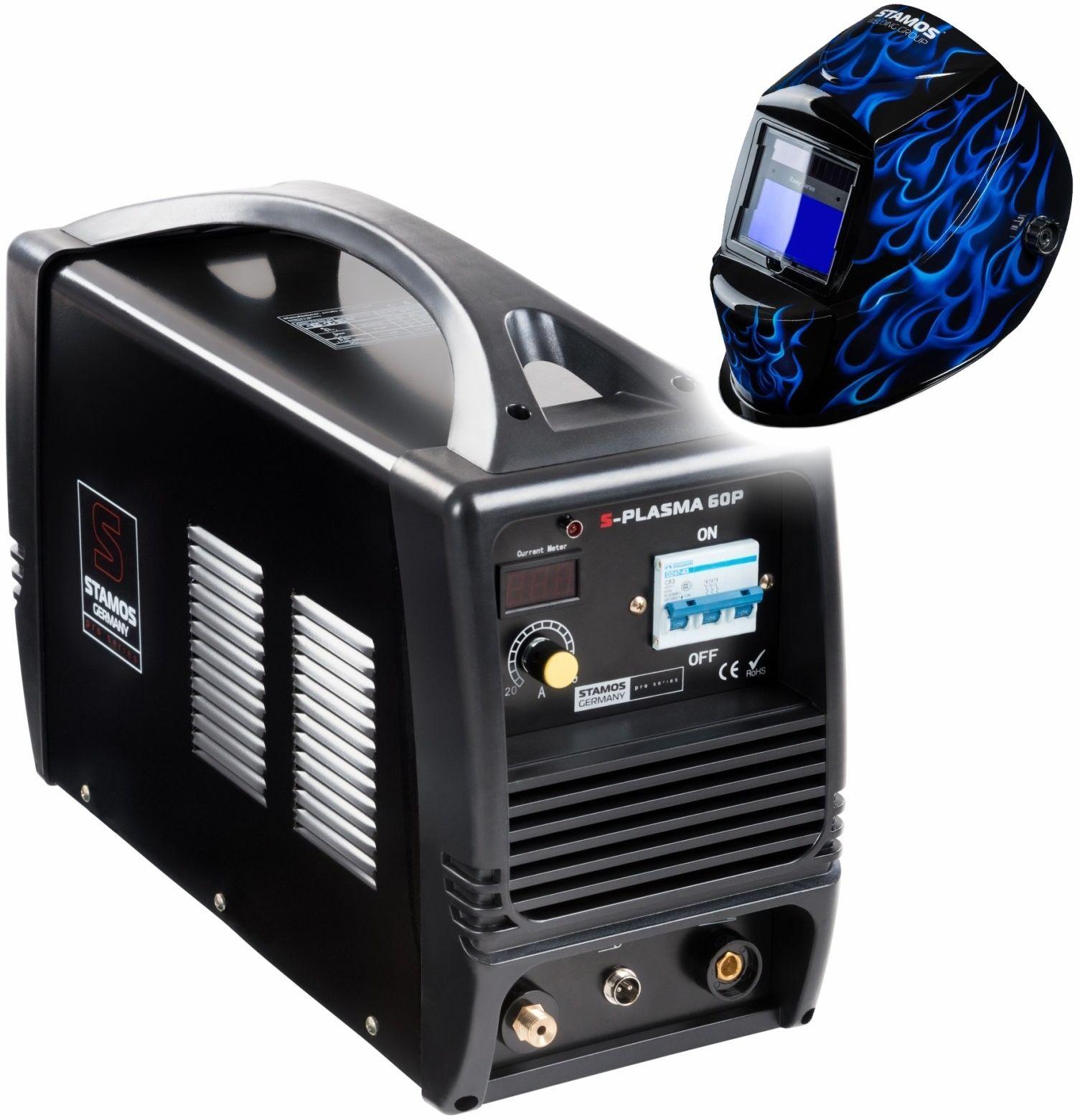 Przecinarka plazmowa - 60 A - 400 V + Maska spawalnicza - Carbonic - Professional - Stamos Pro Series - S-Plasma 60P - 3 lata gwarancji/wysyłka w 24h
