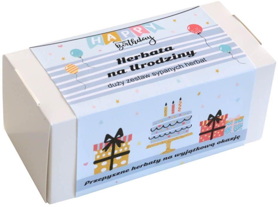 Box z herbatą na urodziny  20 wyjątkowych herbat sypanych jako prezent urodzinowy - 19x5g + 8g