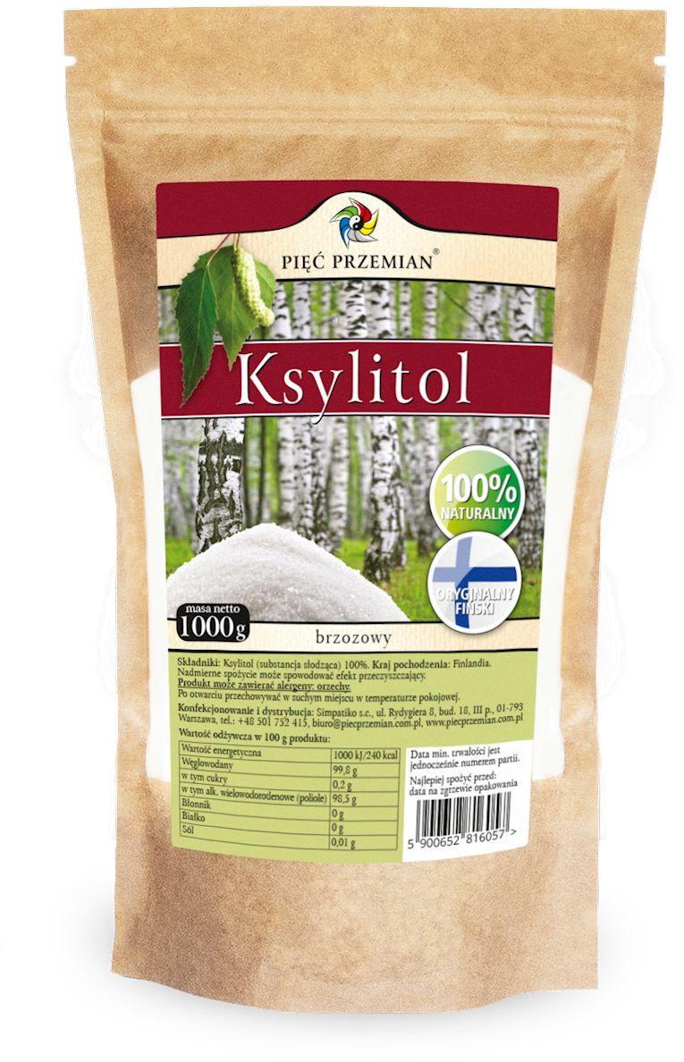 Ksylitol (torebka papierowa) 1000 g - pięć przemian