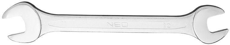 Klucz płaski dwustronny 10 x 11 mm dł.160 mm 09-810