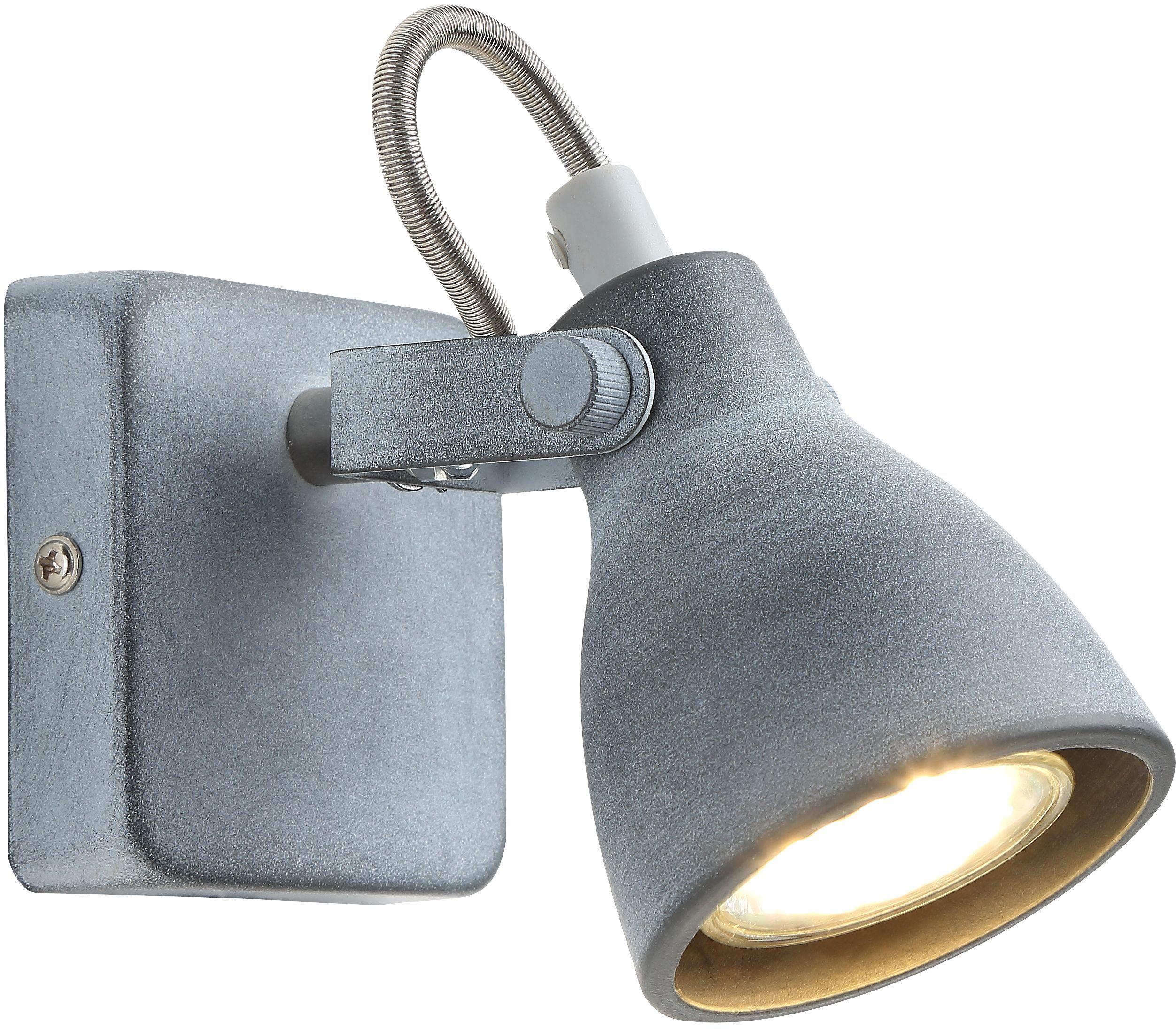 Candellux ASH 91-64394 kinkiet lampa ścienna szary mat regulacja klosza 1X40W GU10 7cm