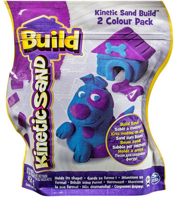Kinetic Sand - Piasek konstrukcyjny 2 kolory fioletowy i niebieski 5909982