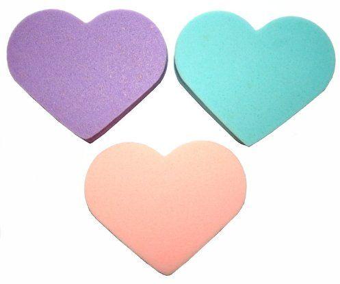 TITANIA gąbeczki do makijażu, serce, 1 opakowanie (1 x 9 g)