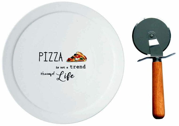 Easy Life/R2S, talerz do pizzy z nożem - Kitchen Elements