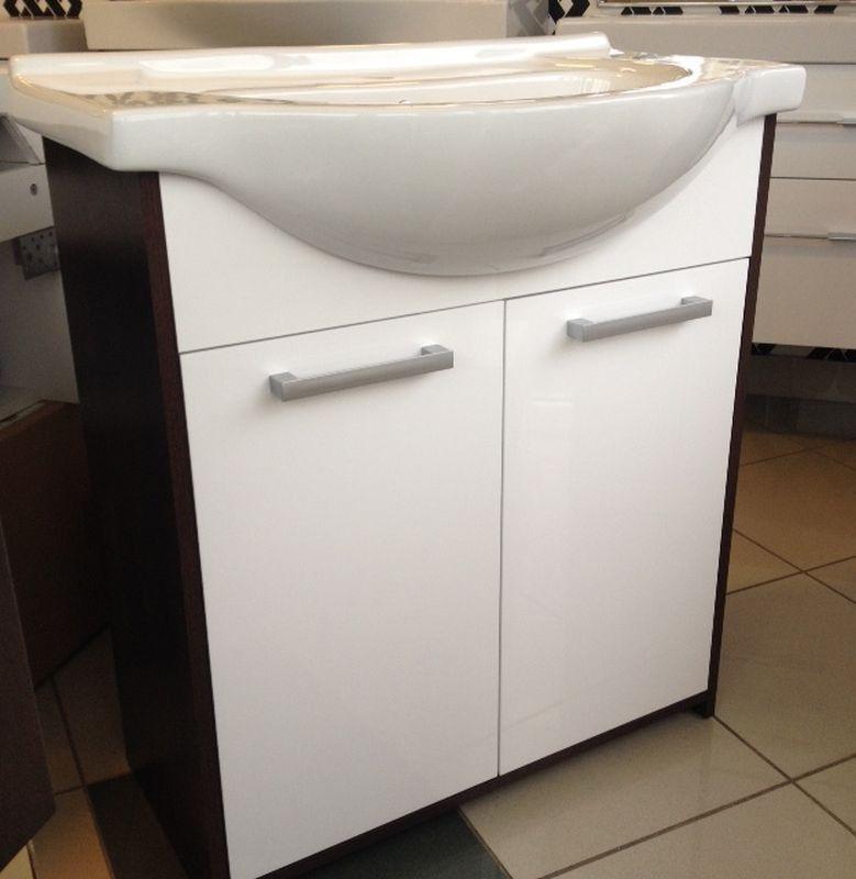 Szafka z umywalką 75 Itaka Limba/White Elita (164688 + 145475)