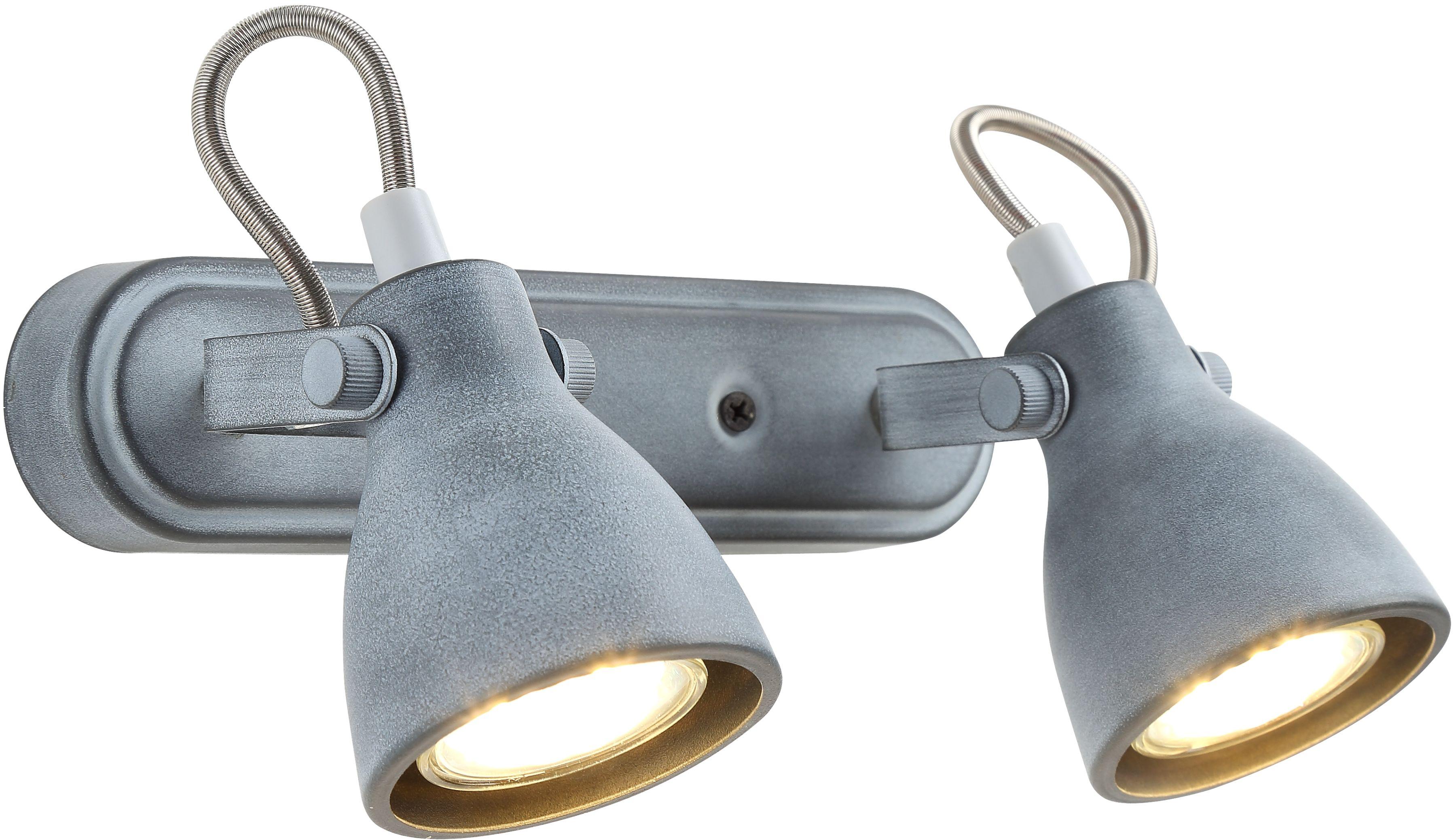 Candellux ASH 92-64400 oprawa oświetleniowa szary mat regulacja klosza 2X40W GU10 31cm