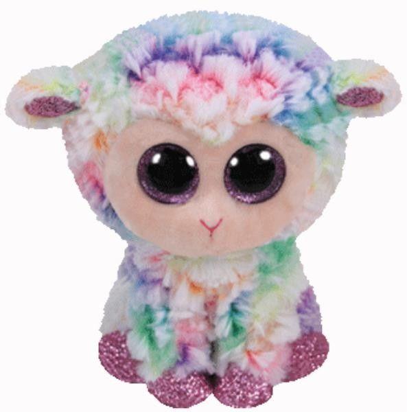 TY Pupilki Beanie Boos tęczowa owieczka Daffodil 15cm