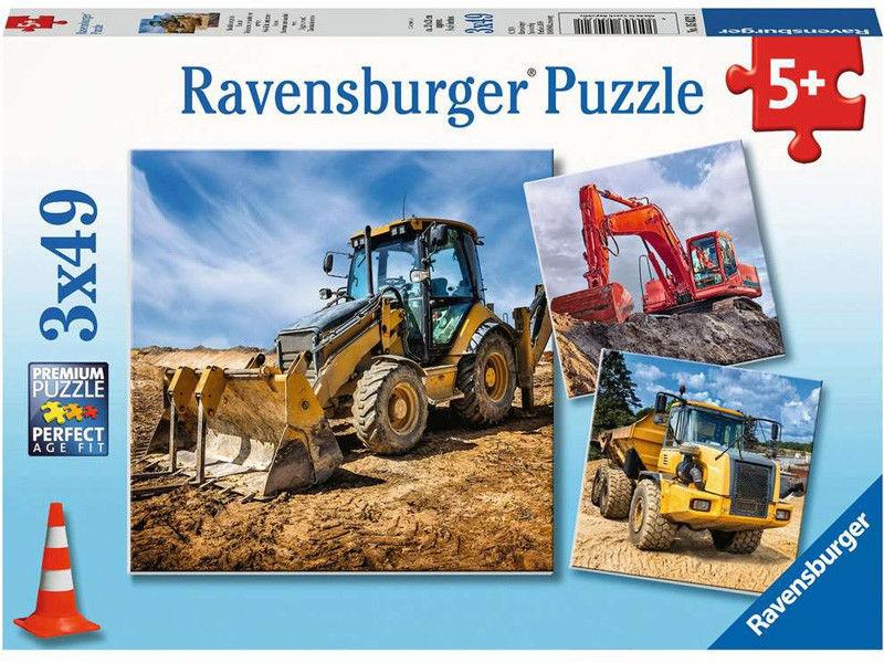 Ravensburger - Puzzle Maszyny budowlane 3 x 49 el. 050321