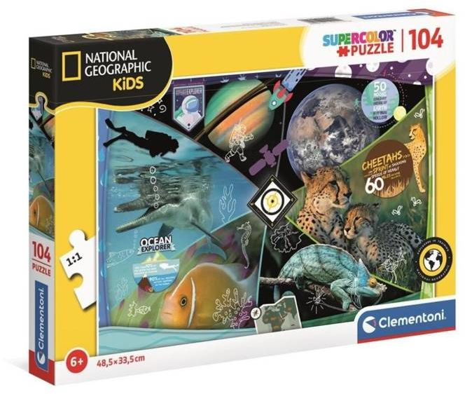 Puzzle 104 National Geographic Odkrycia 25715 - Clementoni