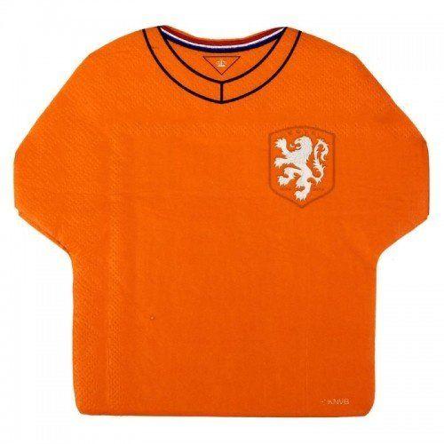 Koszulka piłkarska pomarańczowe serwetki - 20 sztuk