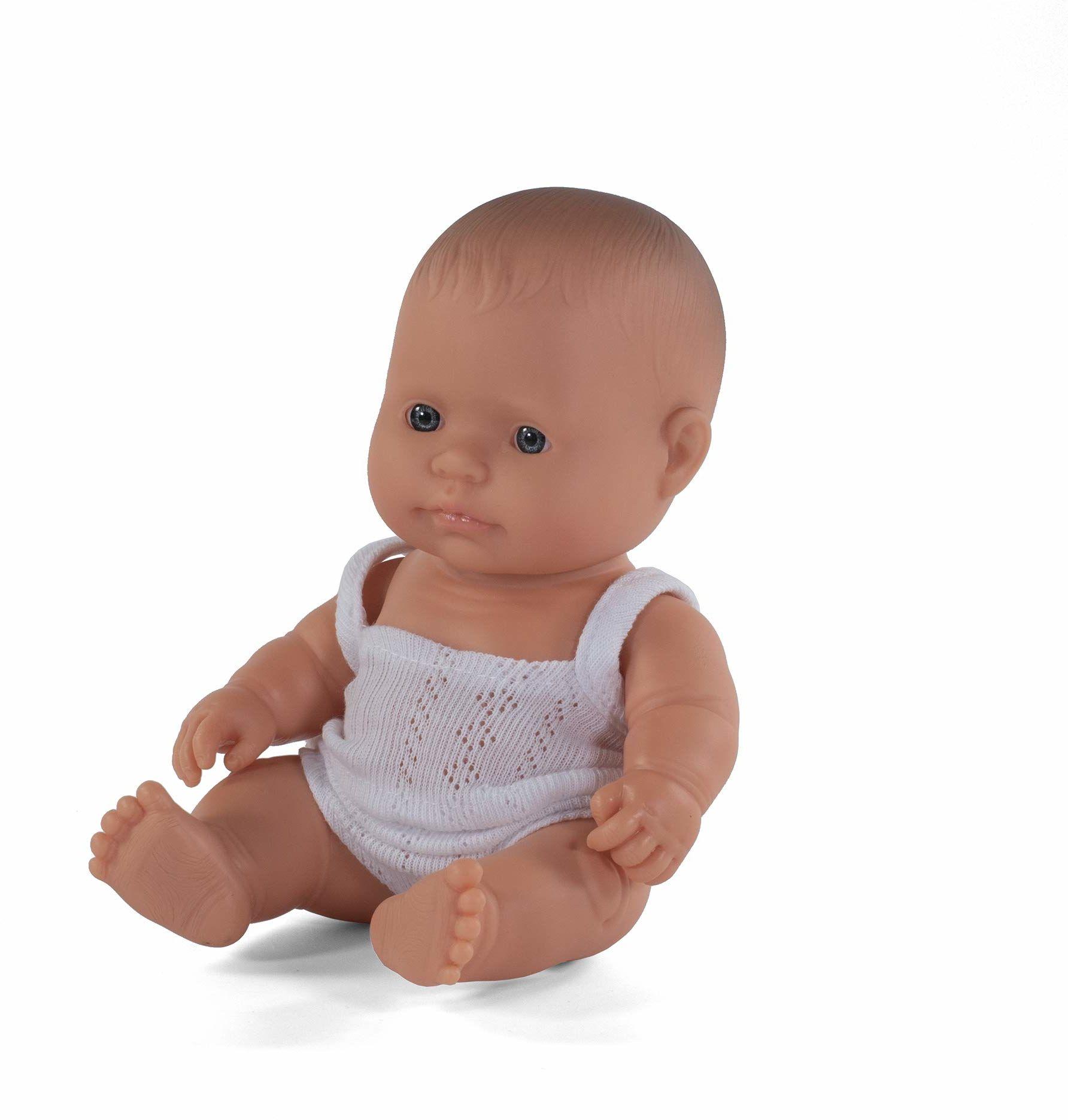 Miniland 31122  dziecko (europejska dziewczynka) 21 cm