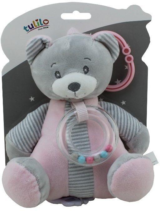 Pozytywka New Baby - Miś różowy 18 cm