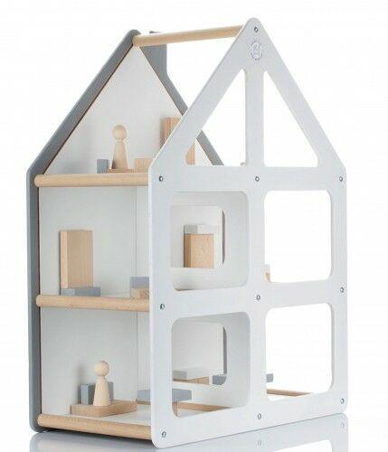 Designerski drewniany domek dla lalek KOLOS - kolory