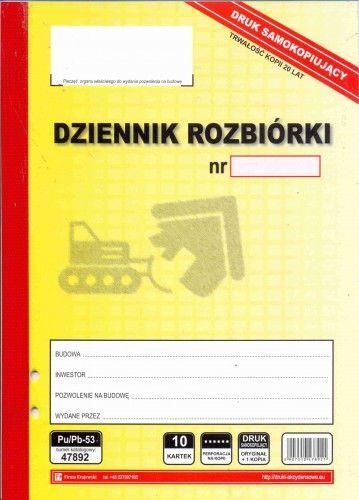Dziennik rozbiórki [Pu/Pb-53]