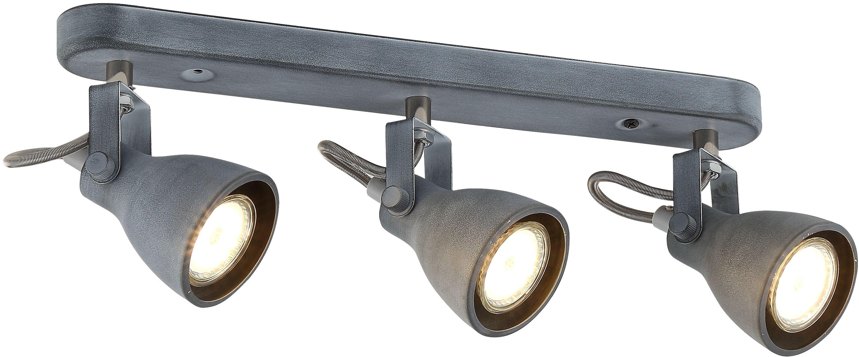 Candellux ASH 93-64301 listwa oświetleniowa szary mat regulacja klosza 3X40W GU10 46cm