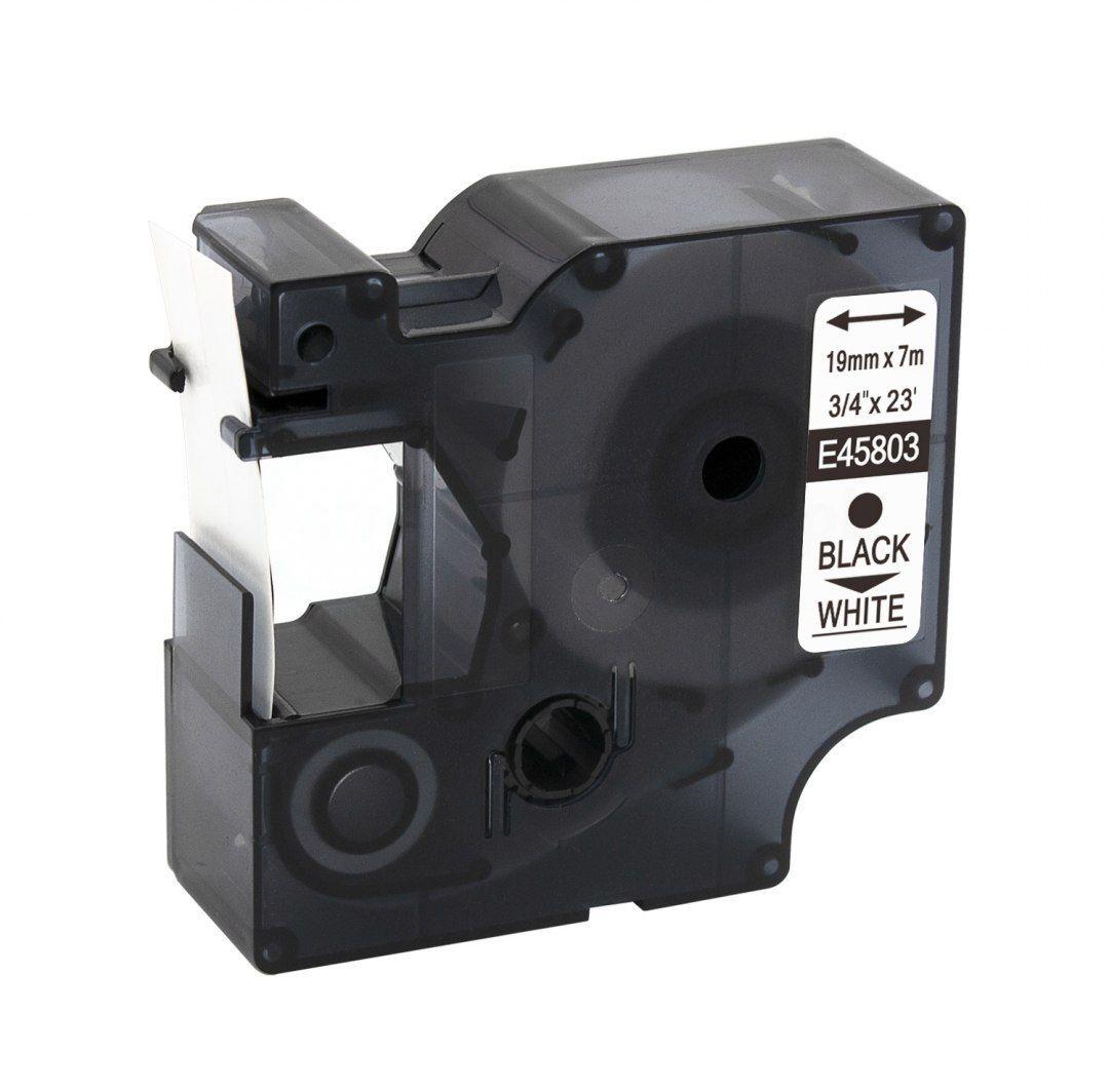 Taśma DYMO D1 45803 19mm x 7m biała czarny nadruk - zamiennik OSZCZĘDZAJ DO 80% - ZADZWOŃ! 730811399
