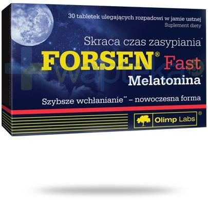 Olimp Forsen Fast z melatoniną 30 kapsułek