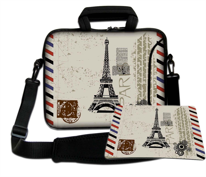 Luxburg torba na ramię torba na notebooka torba na laptopa torba z paskiem z neoprenu Plus Free Moupad! Do Apple, Acer, Asus, Chromebook, Dell, HP, Lenovo, Samsung, Sony itd. Laptop 17,3 cala