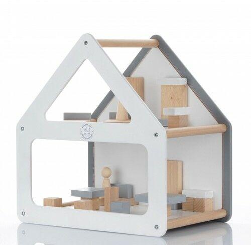 Designerski drewniany domek dla lalek MODOS - kolory