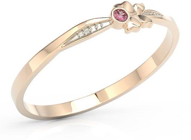 Pierścionek motylek z różowego złota z różową cyrkonią bp-89p-r-c