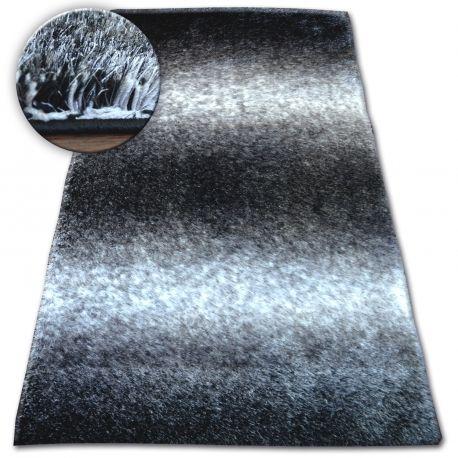 Dywan Shaggy SPACE 3D B315 czarny/szary 80x150 cm
