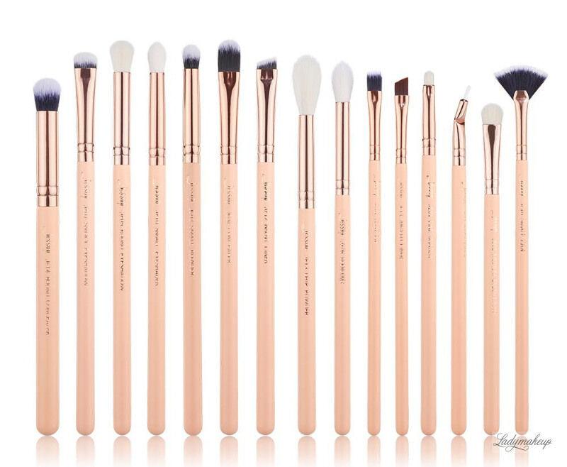 JESSUP - Classics Chrysalid Series Brushes Set - Zestaw 15 pędzli do makijażu - T447 Peach Puff/Rose Gold