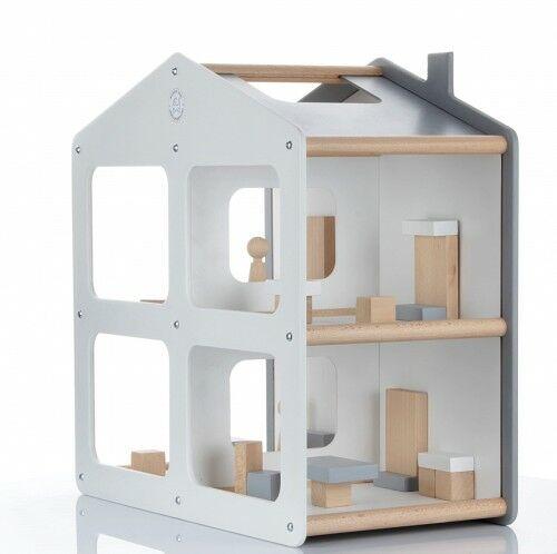 Designerski drewniany domek dla lalek DOMOS - kolory