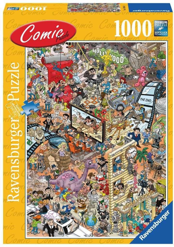 Puzzle Ravensburger 1000 - Komiks Hollywood, Comic Hollywood