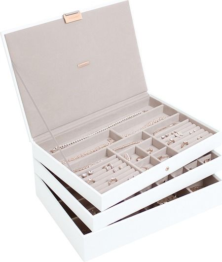 Szkatułka na biżuterię stackers potrójna supersize edycja rose gold