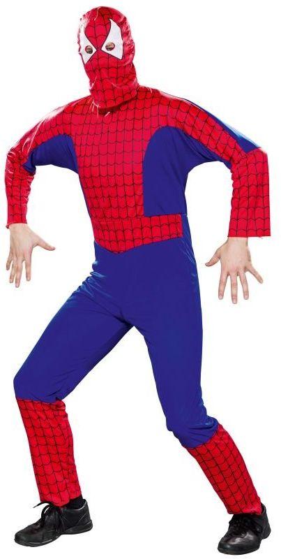 Fyasa 866743-TXL pająk bohater fantazyjny kostium do sukienki, wielokolorowy, XL