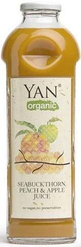 Sok z rokitnika z brzoskwinią i jabłkiem bio 930 ml - yan