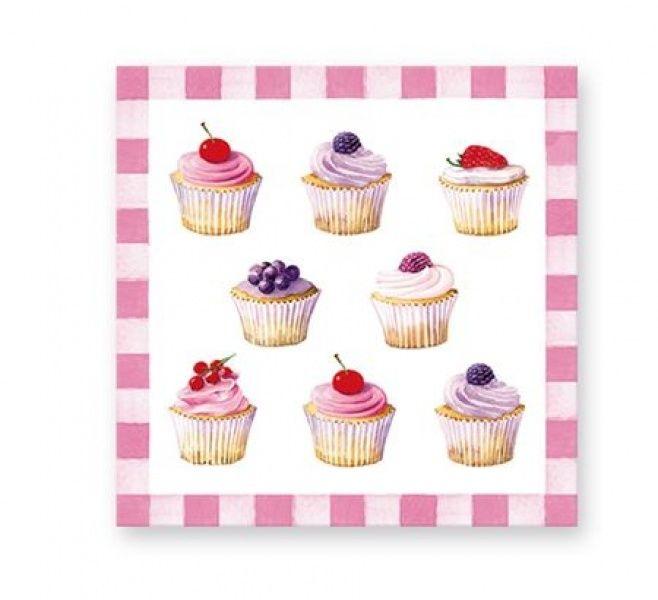 SERWETKI PAPIEROWE - Cupcakes - Babeczki