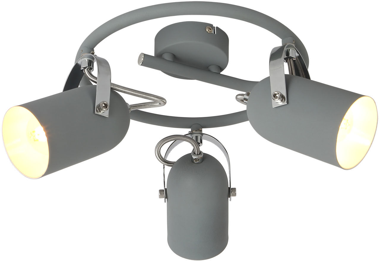 Candellux GRAY 98-66497 plafon lampa sufitowa szary możliwość regulacji kąta nachylenia klosza 3X40W E14 42cm