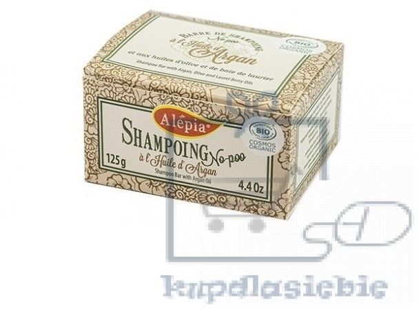 Szampon do włosów w kostce z olejem arganowym 125g Alepia