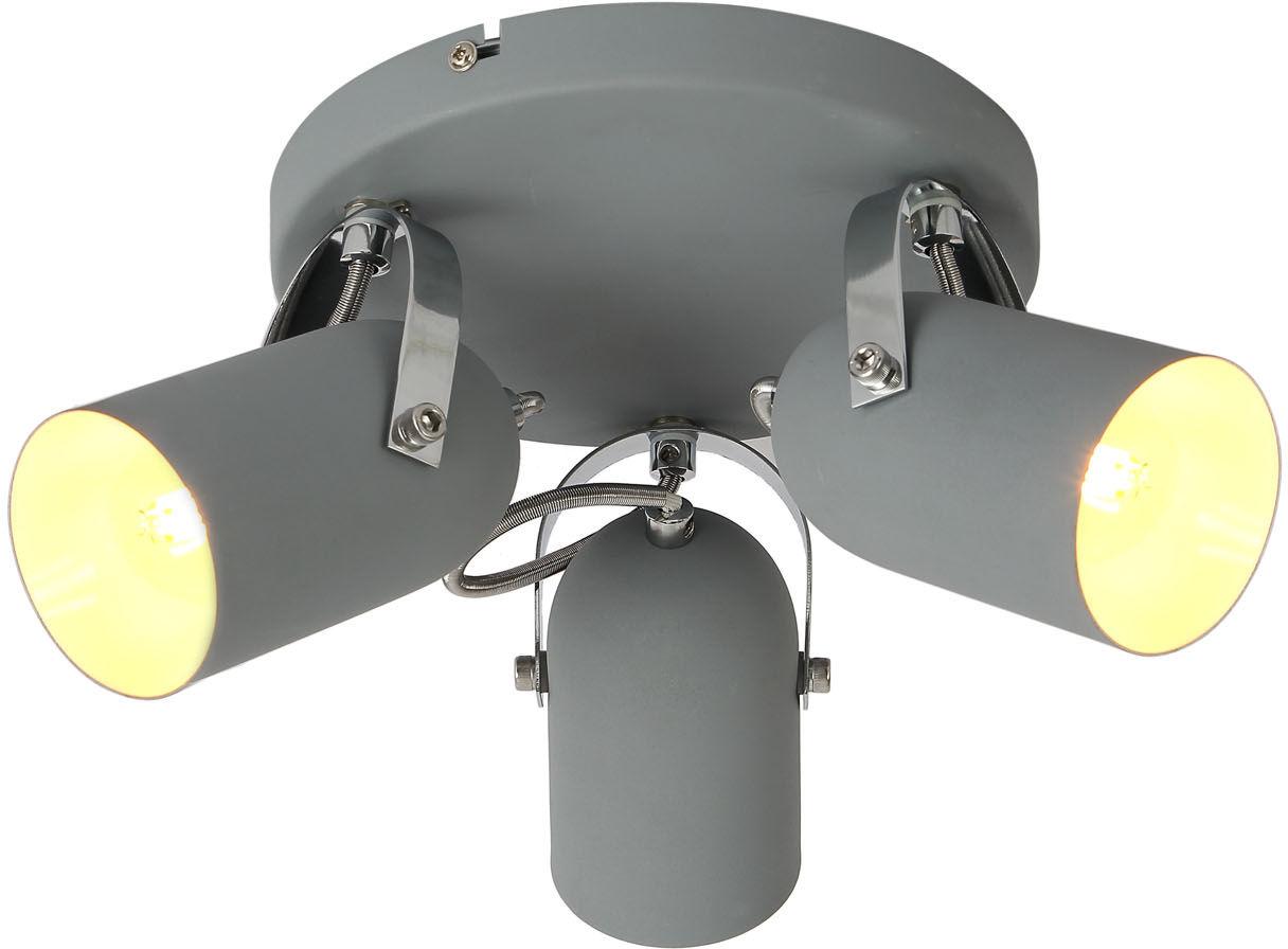 Candellux GRAY 98-66503 plafon lampa sufitowa szara możliwość regulacji kąta nachylenia klosza 3X40W E14 32cm